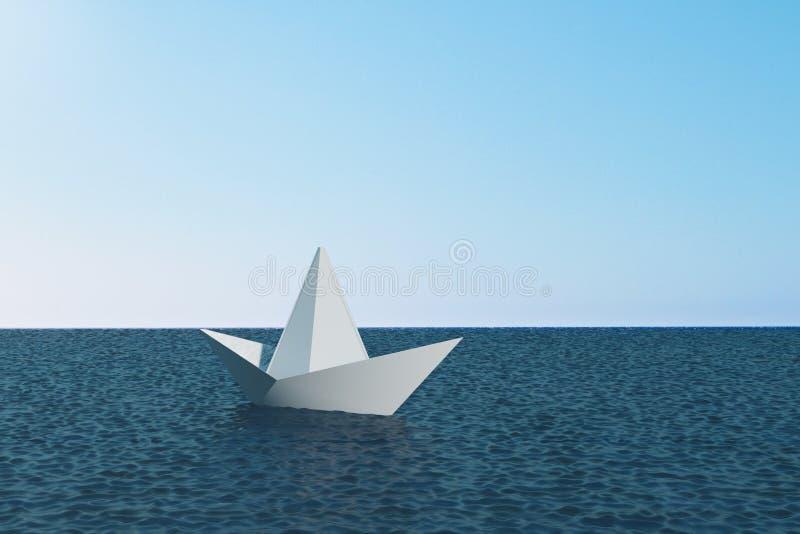Ledarskap och fartygbegrepp stock illustrationer
