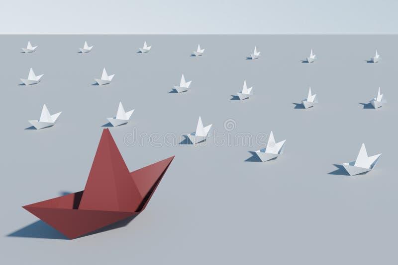 Ledarskap och framgångbegrepp royaltyfri illustrationer