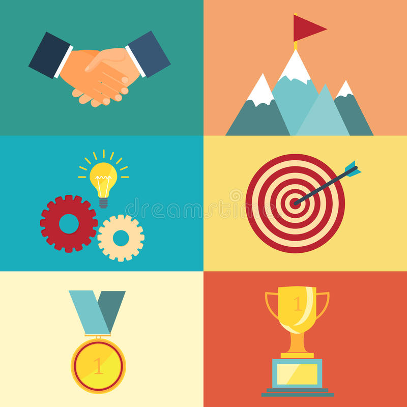 Ledarskap- och framgångillustration vektor illustrationer