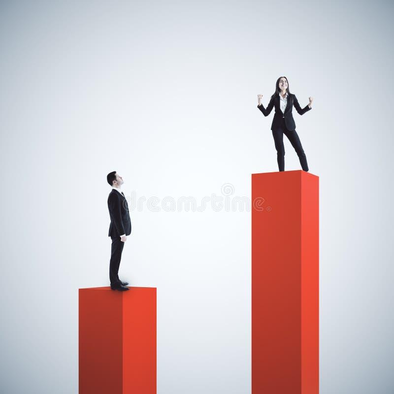 Ledarskap och framg?ngbegrepp vektor illustrationer