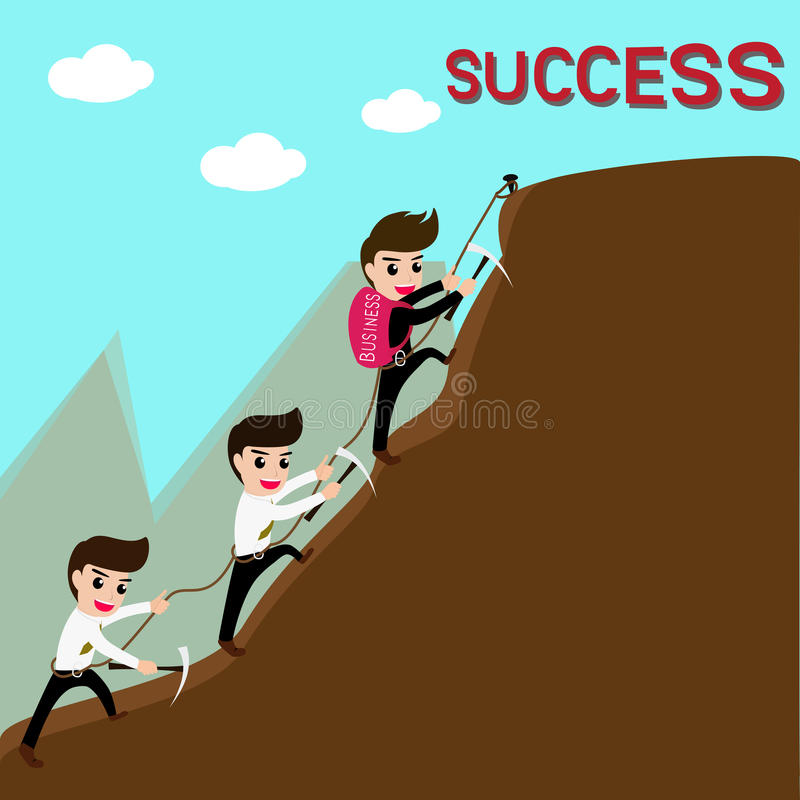 Ledarskap och laget är framgång i affär vektor illustrationer