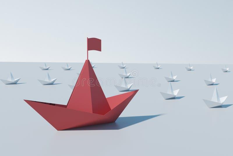 Ledarskap och ledarebegrepp stock illustrationer