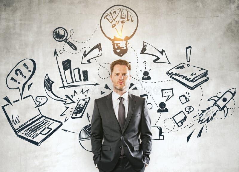 Ledarskap och marknadsföringsbegrepp stock illustrationer