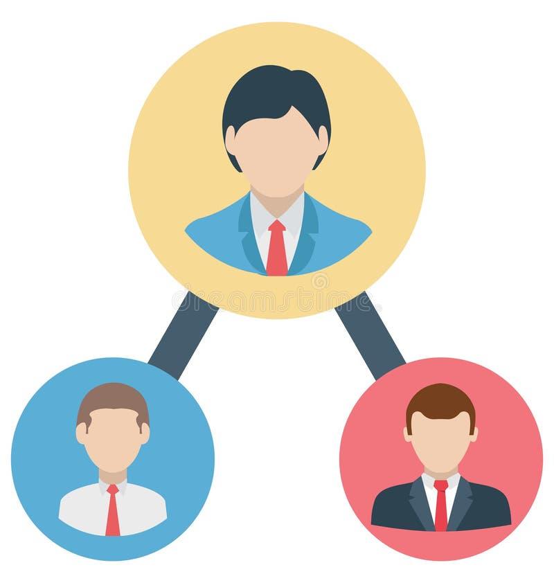 ledarskap organisationen isolerade, som kan vara lätt redigerar, eller ändrade stock illustrationer