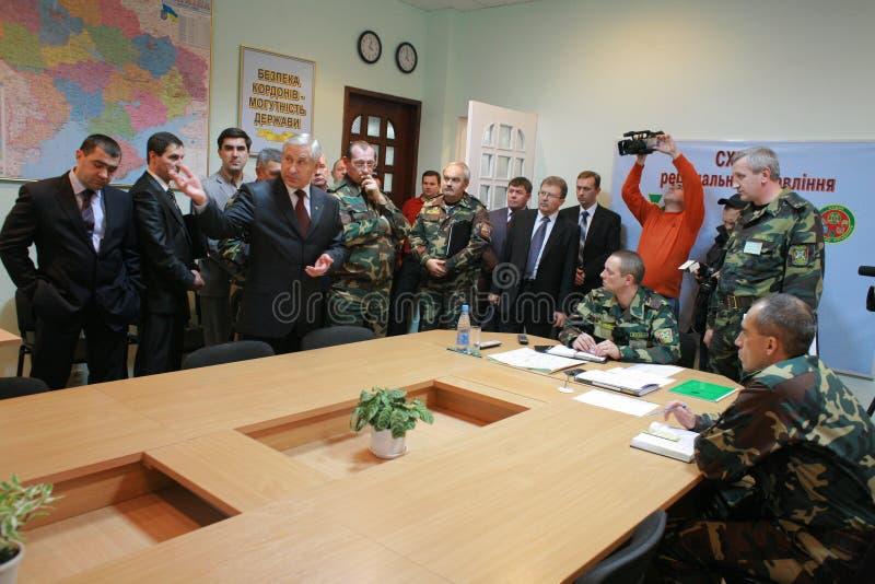ledarskapmötemilitär royaltyfria foton