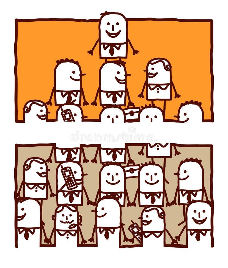 ledarskapteamwork vektor illustrationer