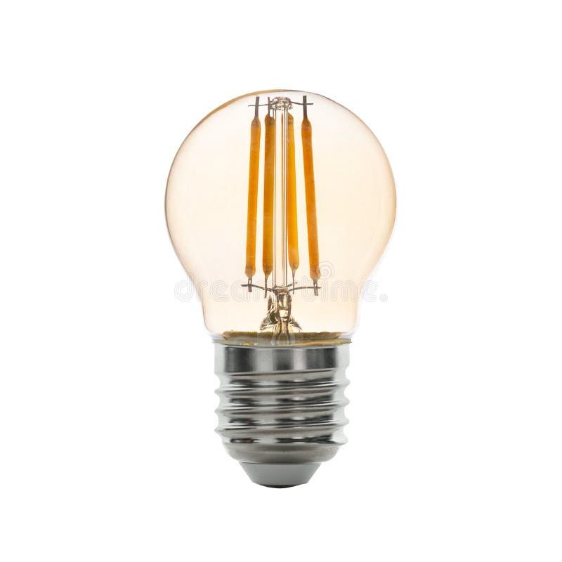 LEDD grund E14 för ljus kula för glödtråd Med den snabba banan arkivbilder