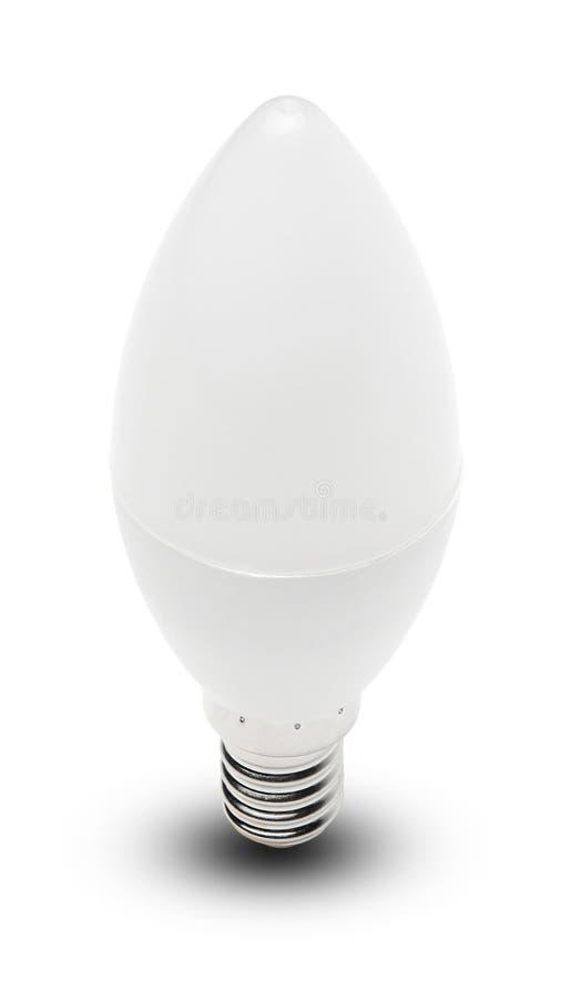 LEDD lampa på en isolerad vit bakgrund Sikt för bästa sida royaltyfria bilder