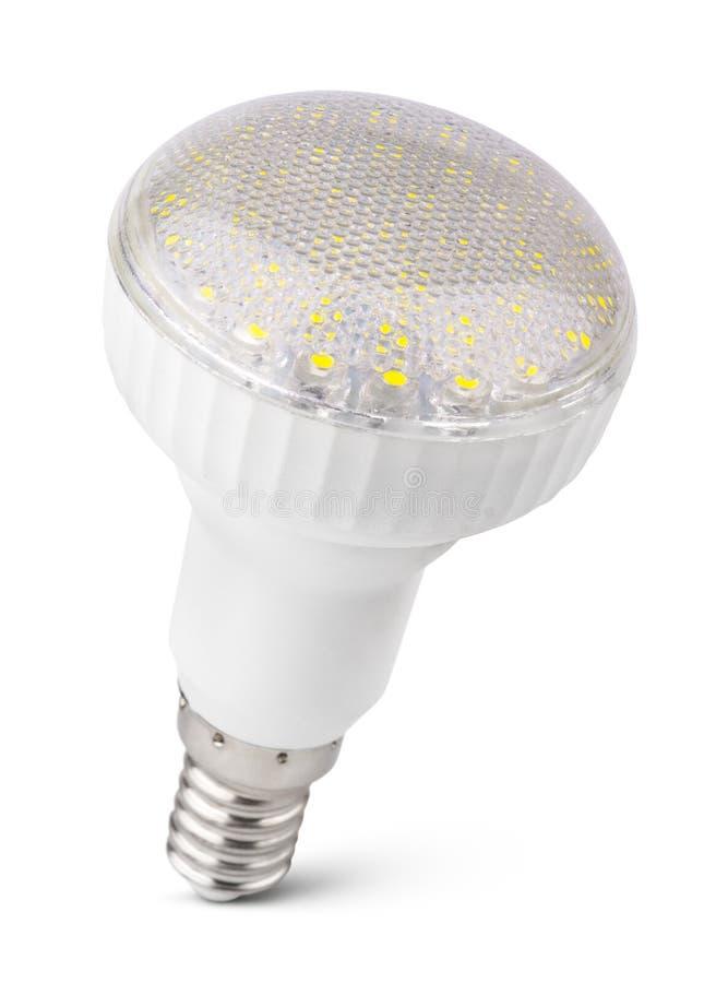 LEDD ljus kula som isoleras på vit royaltyfria foton