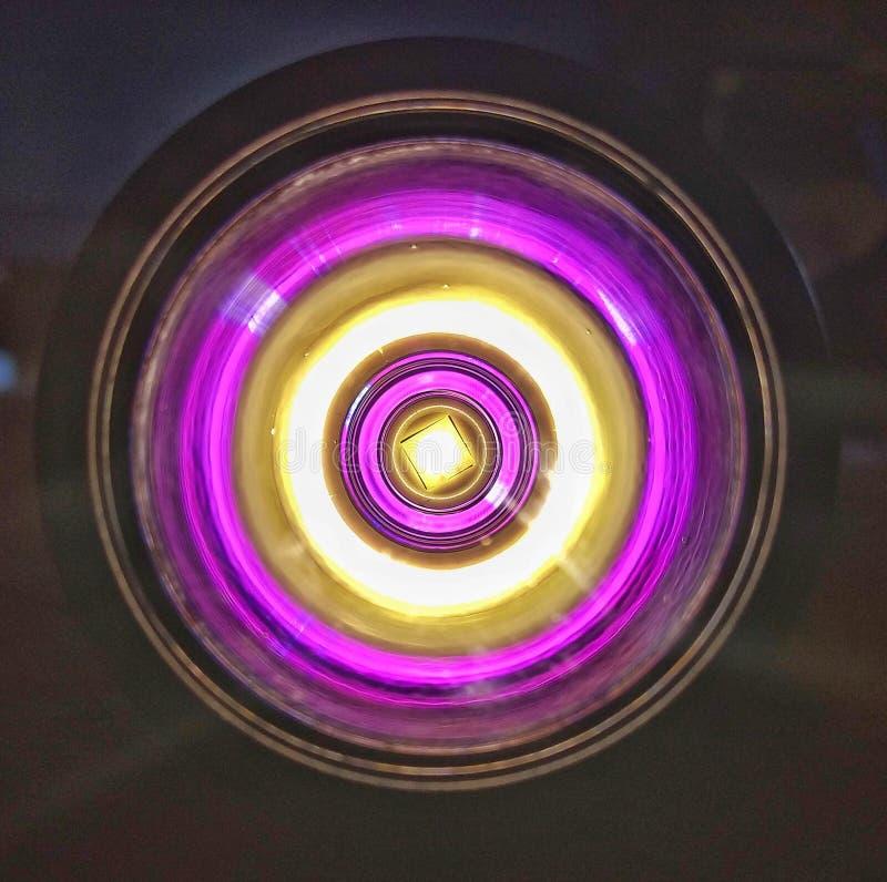 LEDD reflektor för ficklampa royaltyfria foton