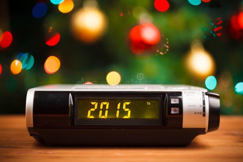 Ledd skärm med 2015 nya år royaltyfria foton