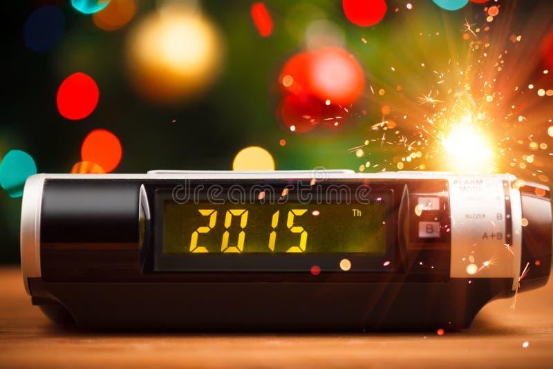 Ledd skärm med 2015 nya år royaltyfri fotografi