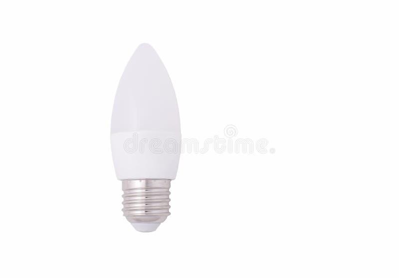 LEDD stearinljuskula som isoleras på vit bakgrund royaltyfria foton