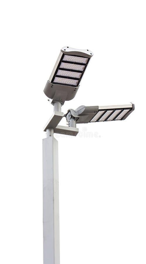 LEDD stolpe för gatalampor royaltyfri bild