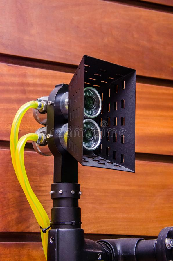 LEDD undervattens- bathyscaphe för projektor som kombineras med en video camer royaltyfria foton