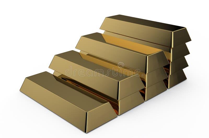 Ledder dorato dei mattoni royalty illustrazione gratis