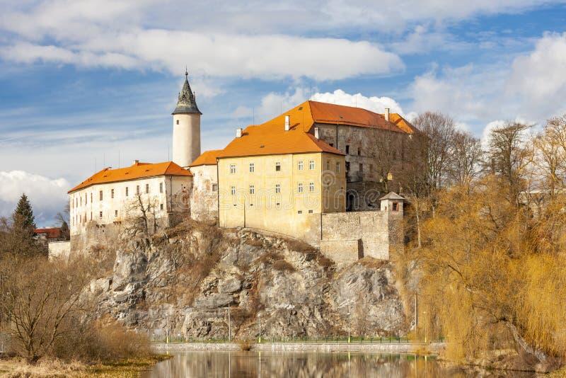Ledec nad Sazavou castle in central Czech Republic stock image