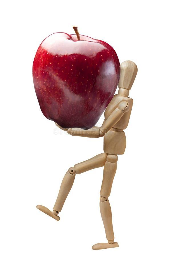 Download Ledenpop Apple Die Geïsoleerd Rood Dragen Stock Afbeelding - Afbeelding bestaande uit sappig, vers: 54090205