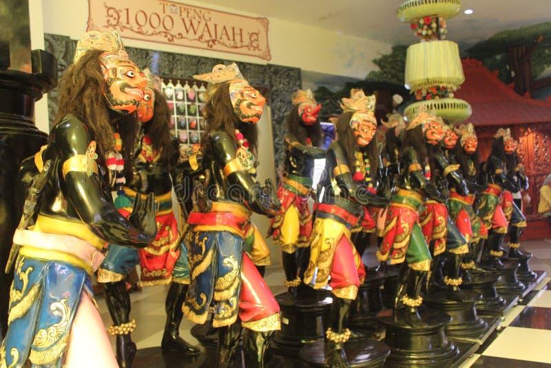 Ledenpop Traditionele Dans van Indonesië stock foto's
