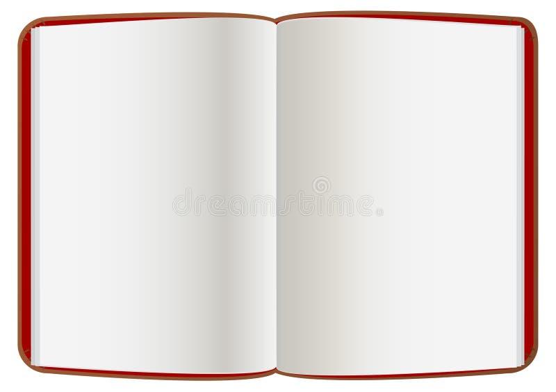 Leder-geöffnetes Buch stock abbildung