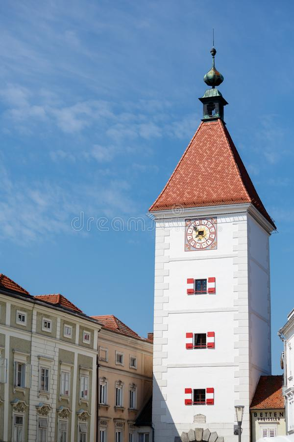 Lederer tower, Wels, Austria. Lederer tower in Wels, Austria. Ledererturm stock photos