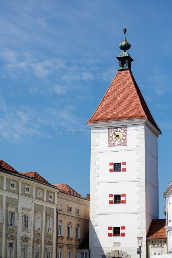 Lederer-Turm, Wels, Österreich stockfotos
