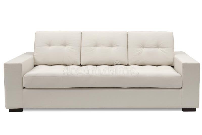 Lederfarbenes Sofa lizenzfreies stockbild