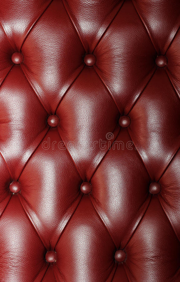 Lederne Couch Stockfoto