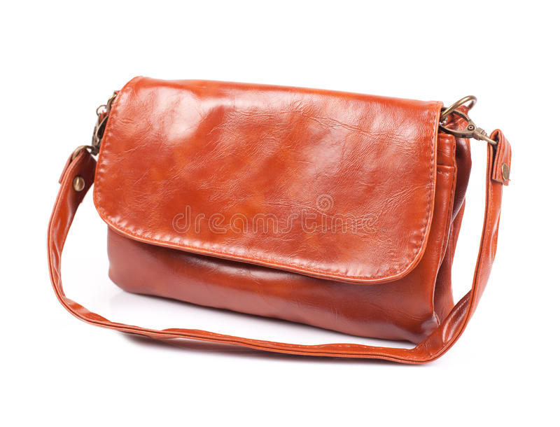 Lederne Damenhandtasche lizenzfreies stockbild