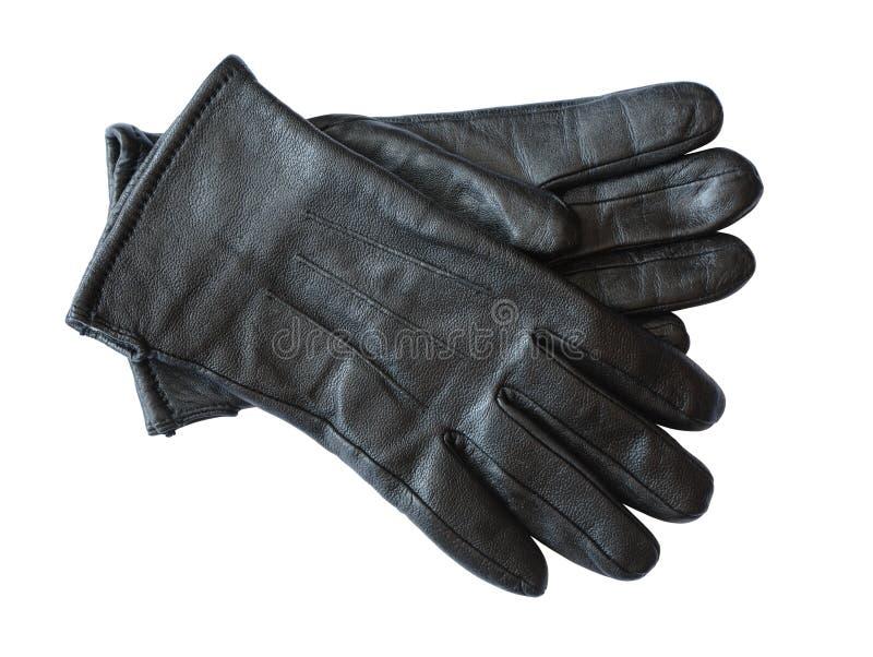 Lederne Handschuhe der Männer stockfotos
