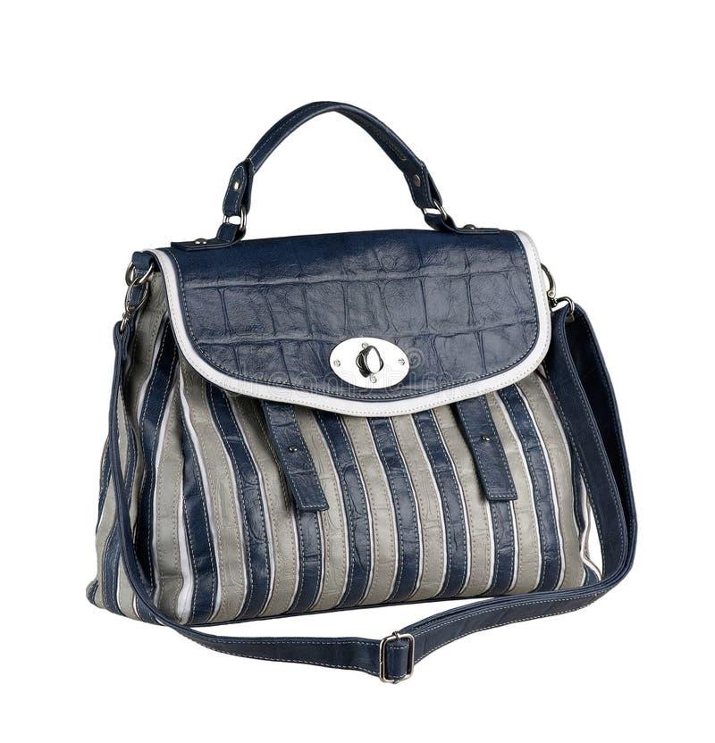 Lederne Handtasche der Dame lizenzfreie stockbilder