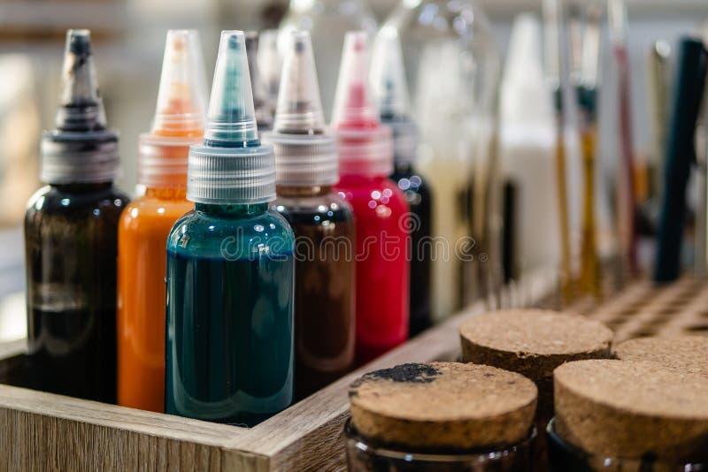 Lederner Farbton und Färbung stockfotografie