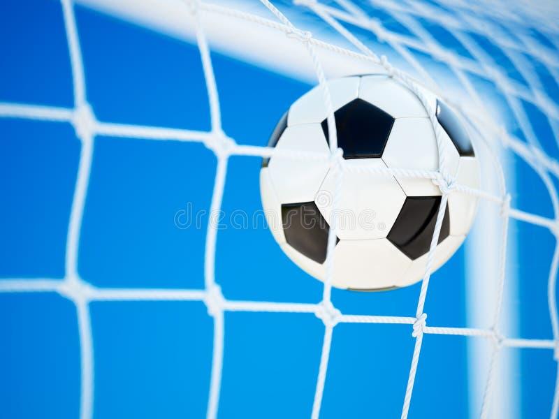 Lederner Fußballball des Fußballs stock abbildung
