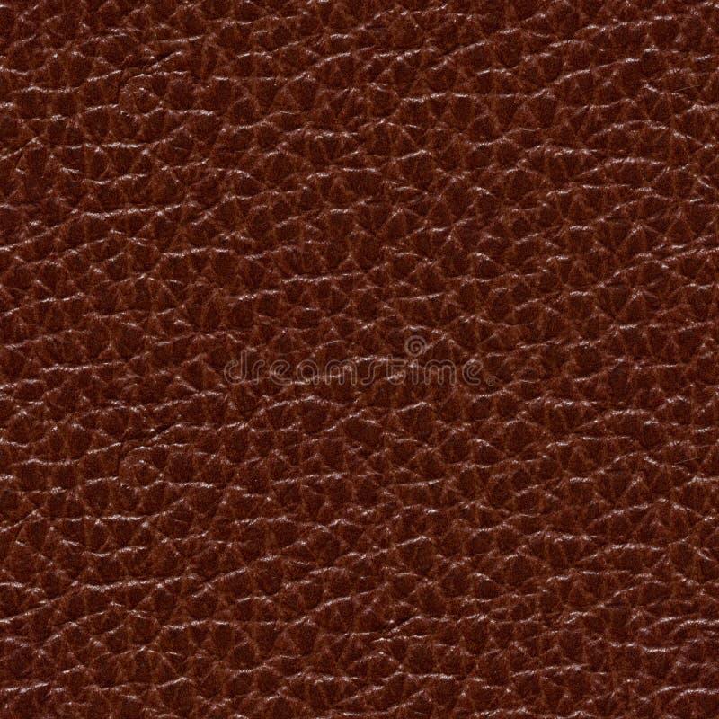 Lederner Hintergrund im stilvollen Schokoladenton Helle exklusive Beschaffenheit, Muster lizenzfreie stockfotos