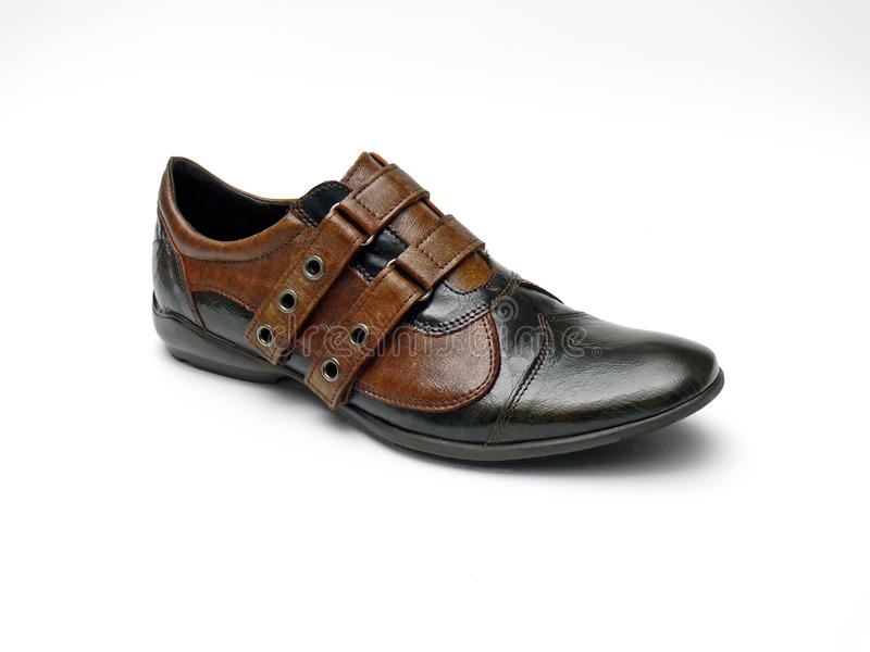 Lederner Schuh lizenzfreies stockbild