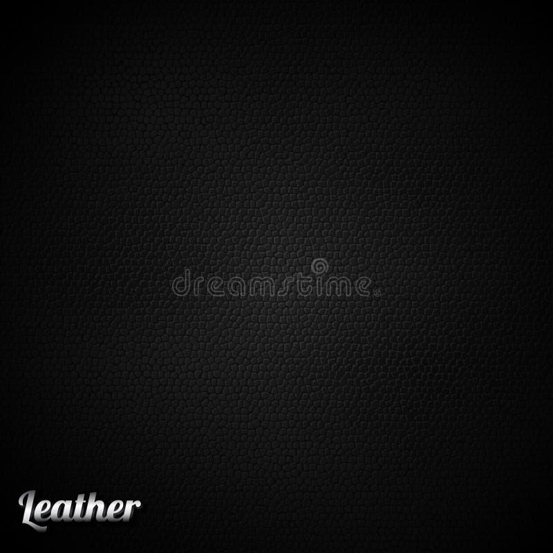 Lederner schwarzer Hintergrundvektor lizenzfreie abbildung