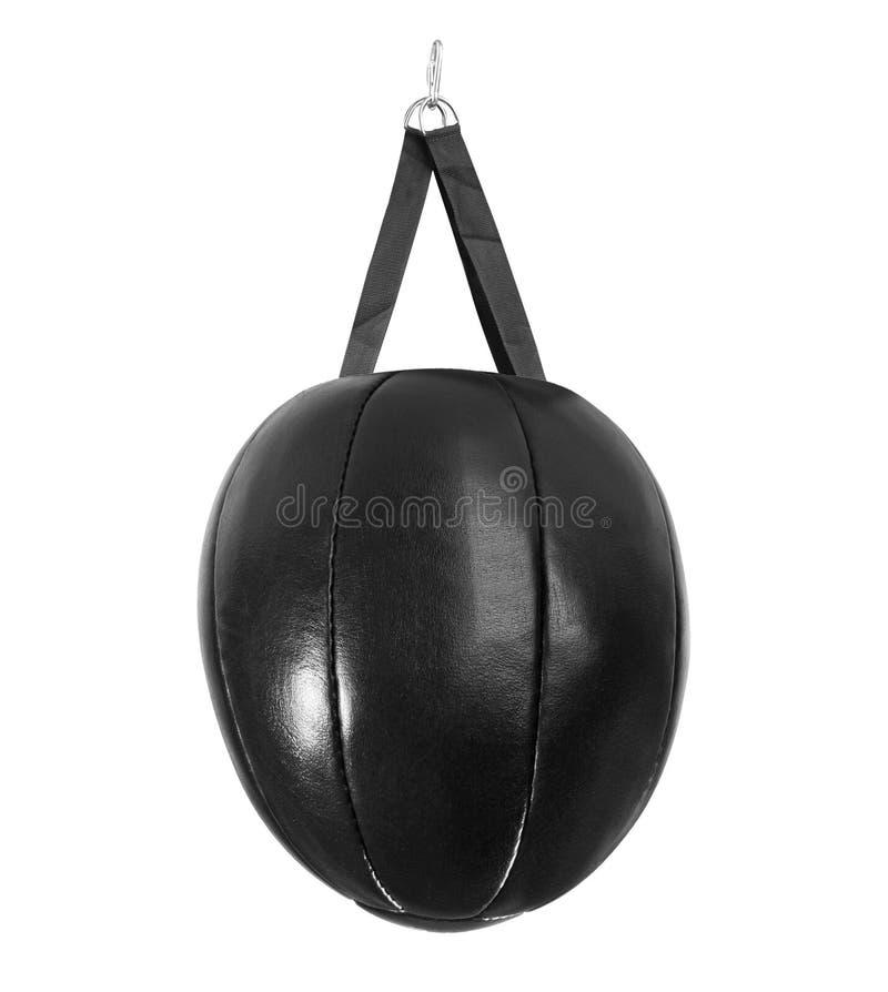 Lederner schwarzer Sandsack stockfoto