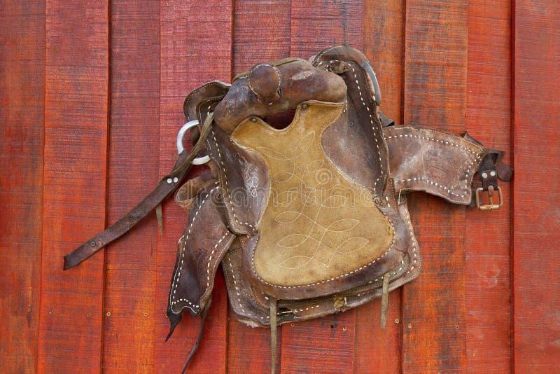 Lederner Westcowboy lizenzfreie stockfotos