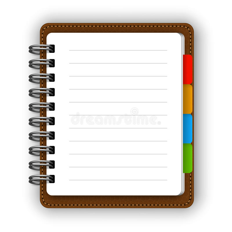 Ledernes Notizbuch lizenzfreie abbildung