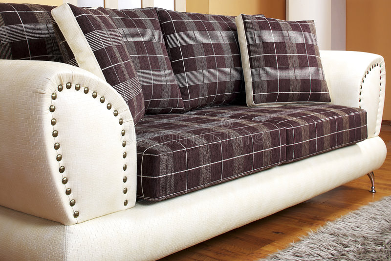 Ledernes Sofa stockfotografie
