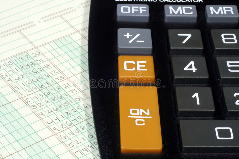 Download Ledger Paper And Calculator Stock Photo - Image: 2188208