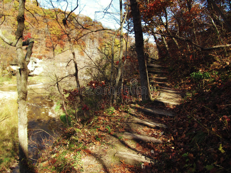 Ledges State Park in Autumn stock image
