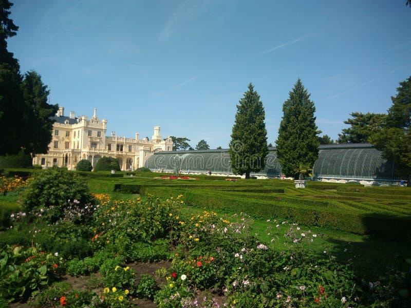 Lednice宫殿-庭院 库存图片