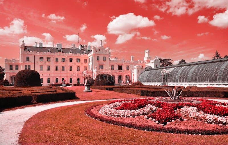 Lednice castle architecture stock images