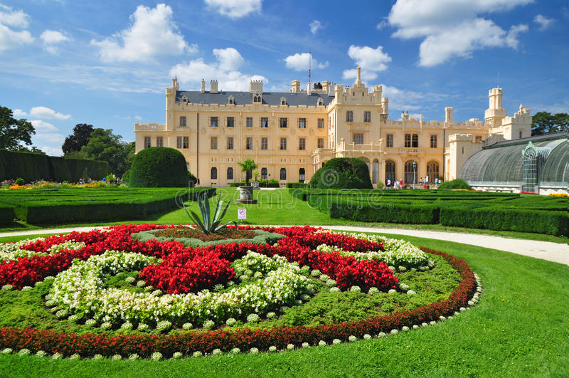 Lednice chateau, UNESCO Heritage royalty free stock photos