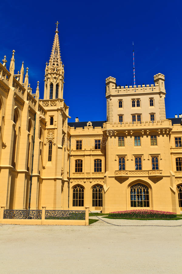 Lednice pałac, Unesco Światowego Dziedzictwa Miejsce fotografia stock