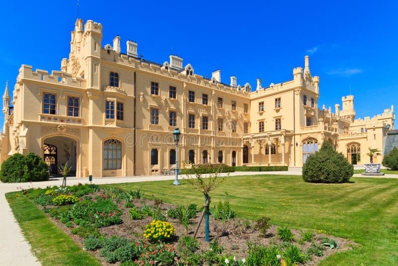 Lednice slott royaltyfria bilder