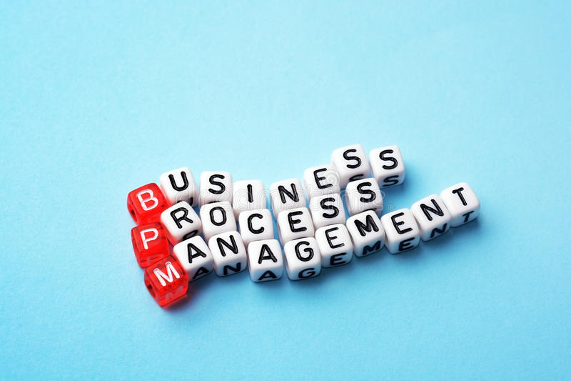Ledning för BPM affärsprocessen tärnar arkivbild