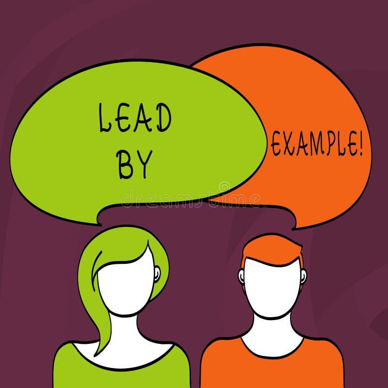 Ledning för ordhandstiltext vid exempel Affärsidé för organisation för ledarskapledningmentor vektor illustrationer