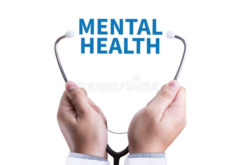 Ledning för psykologisk spänning för MENTAL HÄLSAmentala hälsor och royaltyfria foton